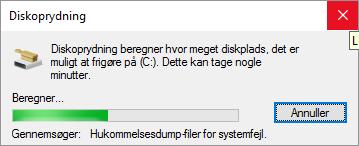 Fjern Malware Diskoprydning